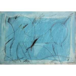 Ivald Granato ( 1949 - 2016 ) Sem título - guache e grafite - 35 x 50 cm - assinada canto inferior direito - 1973
