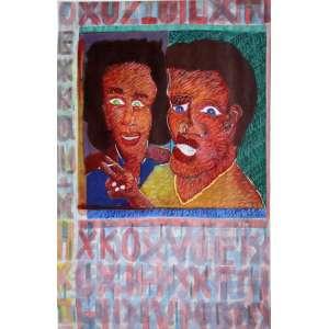 Cildo Meireles ( 1948 ) Sem título - aquarela e pastel - 98 x 69 cm - assinada canto inferior direito - 1982