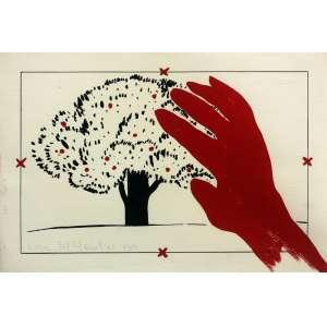 Anna Maria Maiolino ( 1942 ) Sem título - guache e nanquim - 22 x 32 cm - assinada canto inferior esquerdo - 1980
