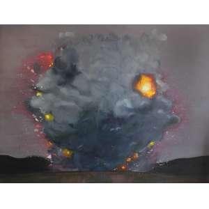 Ana Prata ( 1980 ) Sem título - óleo sobre tela - 190 x 250 cm - assinada no verso - 2010