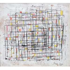 Antonio Bandeira ( 1922 - 1967 ) Sem título - óleo sobre cartão - 30 x 33 cm - assinada canto inferior direito - 1967