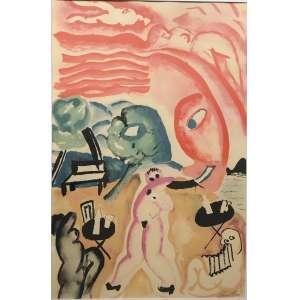 Cicero Dias ( 1907 - 2003 ) Cotidiano - litografia I/LXXV por Pierre Badey - Paris 1983 - 65 x 95 cm - assinada