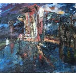 Cristina Canale ( 1961 ) Sem título - óleo e tinta esmalte sobre tela - 165 x 180 cm - assinada no verso - 1987