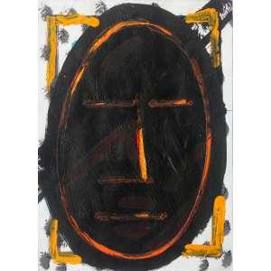 Artur Barrio ( 1945 ) Série Africana - acrílica sobre papel - 32 x 25 cm - sem assinatura