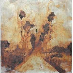 Daniel Senise ( 1955 ) Sem título - óleo e metal sobre tela - 127 x 127 cm - assinada no verso - 1999