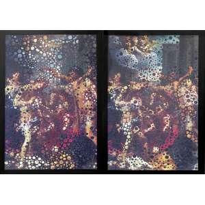 Albano Afonso ( 1964 ) Da Série Questões do tempo Batismo/Massacre - fotografia perfurada sobre fotografia - edição 1/3 - 120 x 140 cm diptico - sem assinatura - 2006 - Reprodução: Livro Albano Afonso, 2011, Paraísos, sob nº 17. - Acompanha certificado Casa Triângulo.
