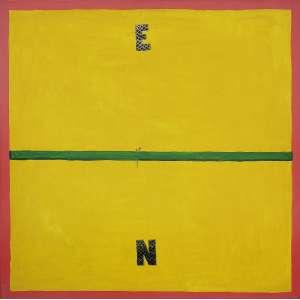 Emmanuel Nassar ( 1949 ) Sem título - acrílica sobre tela - 90 x 90 cm - assinada no verso - 2002