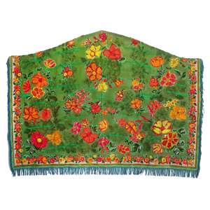 Leda Catunda ( 1961 ) Monte de flores - acrílica sobre tecido - 170 x 235 cm - assinada no verso - 1986