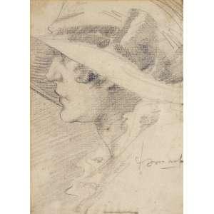 Ismael Nery ( 1900 - 1934 ) Figura de mulher - grafite - 21,8 x 15,8 cm - assinada canto inferior direito - Reprodução: Livro Ismael Nery 50 anos depois, Museu de Arte Contemporânea da Universidade de São Paulo (MAC), página 41.