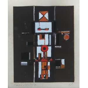 Maria Leontina ( 1917 - 1984 ) Sem título - guache - 14 x 11 cm - assinada canto inferior esquerdo - 1958