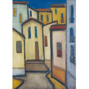 Arcangelo Ianelli ( 1922 - 2009 ) Sem título - óleo sobre tela - 61 x 46 cm - assinada canto inferior direito - 1954