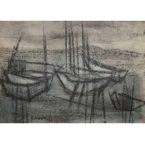 Aldo Bonadei ( 1906 - 1973 ) Sem título - pastel e guache - 35 x 49,5 cm - assinada centro inferior - 1944