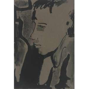 Rubens Gerchman ( 1942 - 2008 ) Sem título - nanquim - 24 x 16,5 cm - assinada canto inferior direito - 1962