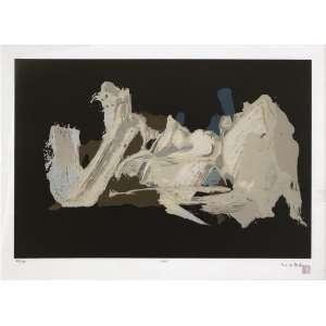 Manabu Mabe (1924 - 1997) - Sem título - gravura 84/100 - 40 x 60 cm - assinada canto inferior direito - 1961 - Edição Instituto Mabe.