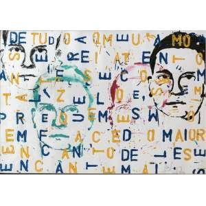 Alex Flemming (1954) - Sem título - técnica mista sobre papel - 40 x 57 cm - assinada canto inferior direito - 1999