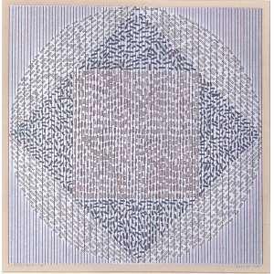 Dionísio Del Santo (1925 - 1999) - Circular Vibrações - serigrafia 1/1 - 45 x 45 cm - assinada canto inferior direito - 1978