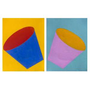 Marcelo Cipis (1959) - Sem título - óleo sobre tela - 21 x 16 cm cada - assinadas no verso - 1997