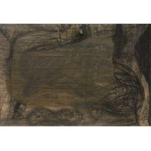 Nuno Ramos (1960) - Sem título - técnica mista sobre cartão - 65 x 96 cm - assinada canto inferior e superior esquerdo - 1999