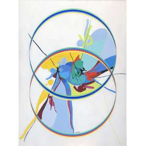Maria Polo (1937 - 1983) - Sem título - óleo sobre tela - 128 x 95 cm - assinada centro inferior - 1971