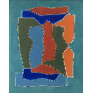 Dionísio Del Santo (1925 - 1999) - Sem título - óleo sobre tela - 100 x 80 cm - assinada no verso - 1997