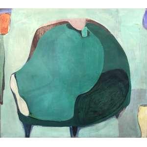 Cristina Canale (1961) - Poltrona anos 60 - técnica mista sobre tela - 140 x 160 cm - assinada no verso - 1999