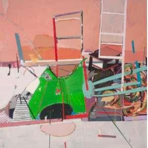 Lucia Laguna (1941) - Studium 34 - acrílica e óleo sobre tela - 170 x 170 cm - assinada no verso - 2011