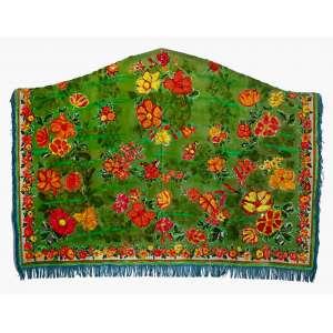Leda Catunda (1961) - Monte de flores - acrílica sobre tecido - 170 x 235 cm - assinada no verso - 1986