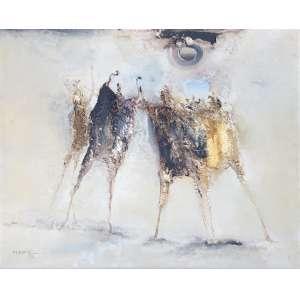 Manabu Mabe (1924 - 1997) - Sem título - óleo sobre tela - 64 x 80 cm - assinada canto inferior esquerdo e verso - 1972