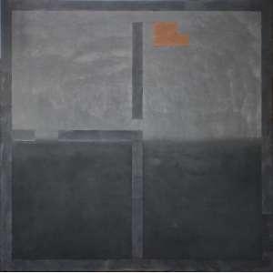 Antonio Dias (1944 - 2018) - Sem título - acrilico e grafite sobre tela - 120 x 120 cm - assinada no verso - 1981 - Com etiqueta Galeria Luisa Strina.
