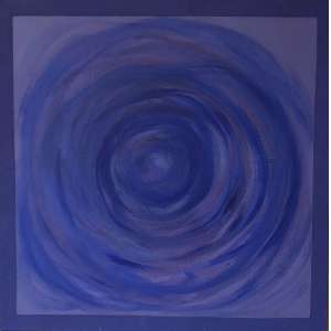 Amélia Toledo (1926 - 2017) - Sem título - resina acrílica e pigmento sobre juta - 100 x 100 cm - 2012 - assinada no verso