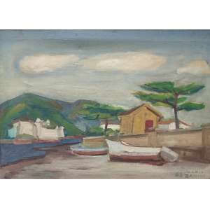 Mario Zanini (1907 - 1971) - Sem título - óleo sobre tela - 50 x 70 cm - assinada canto inferior direito - 1963