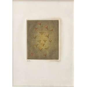Arthur Luiz Piza - (1928 - 2017) - Noel - goiva e ponta seca a cores sobre papel - EE - 18 x 14 cm (tamanho do papel: 37 x 27 cm) - assinada canto inferior direito - 1990 - Com etiqueta Panorama - MAM SP.