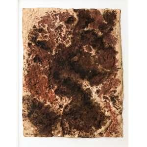 Frans Krajcberg - (1921 - 2017) - Relevo - técnica mista sobre papel - 66 x 50 cm - assinada canto inferior esquerdo - 1964