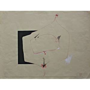 Wesley Duke Lee - (1931 - 2010) - Resultado das conversas de 24 de novembro - nanquim e guache - 47 x 62 cm - assinada canto inferior direito - 24.11.1960