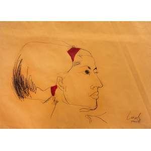 Wesley Duke Lee - (1931 - 2010) - Sem título - carvão e guache - 51 x 67 cm - assinada canto inferior direito - 1964