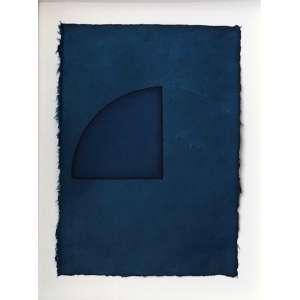 Mira Schendel - (1919 - 1988) - Sem título - colagem, ecoline, fio de ouro sobre papel artesanal - 39,7 x 28 cm - assinada canto inferior direito - 1981