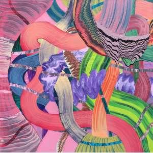 Henrique Oliveira - (1973) - Sem título - acrílica sobre tela - 150 x 150 cm - assinada no verso - 2006
