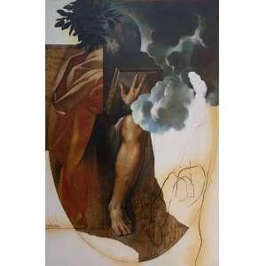 Sergio Ferro - (1938) - Moises recebendo as taboas da lei - acryl, alkyd e óleo sobre tela - 195 x 130 cm - assinada no verso - 1991