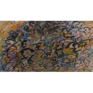 Rubens Gerchman - (1942 - 2008) - Sem título - nanquim, pastel e aquarela - 20,5 x 39,5 cm - assinada canto inferior direito - 1962