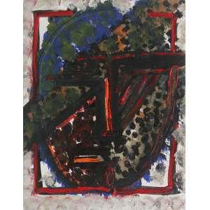 Artur Barrio - (1945) - Série Africana - óleo sobre papel - 32 x 25 cm - assinada no verso - 1982