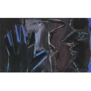 Iberê Camargo - (1914 - 1994) - Sem título - óleo sobre papel - 25 x 36 cm - assinada canto inferior direito - 1985