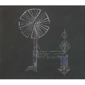 Maria Leontina - (1917 - 1984) - Sem título - guache - 15,5 x 18 cm - assinada no centro - 1955