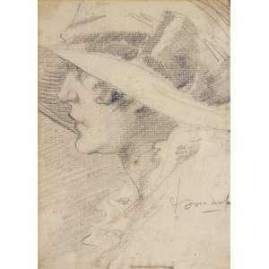 Ismael Nery - (1900 - 1934) - Figura de mulher - grafite - 21,8 x 15,8 cm - assinada canto inferior direito - Reprodução: Livro Ismael Nery 50 anos depois, Museu de Arte Contemporânea da Universidade de São Paulo (MAC), página 41.