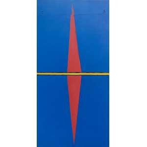 Emmanuel Nassar - (1949) - Sem título - acrílica sobre tela - 160 x 80 cm - superior e dorso - 2003