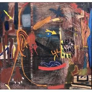 Siron Franco - (1947) - Canibal - Óleo sobre tela - 170 x 178 cm - assinada canto inferior direito e verso - 1991/92 - Exposição: Recent Paintings - Galeria Elms Lesters - London October 92 . Curadoria Charles Cosac e Siron Franco.