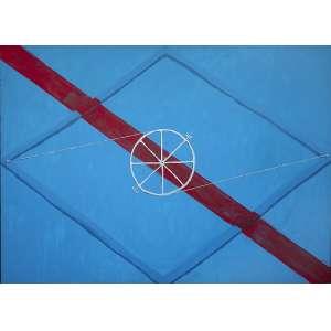 Emmanuel Nassar - (1949) - Losango azul - acrílica sobre tela - 130 x 180 cm - assinada centro e verso - 1999
