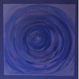 Amélia Toledo - (1926 - 2017) - Sem título - resina acrílica e pigmento sobre juta - 100 x 100 cm - 2012 - assinada no verso