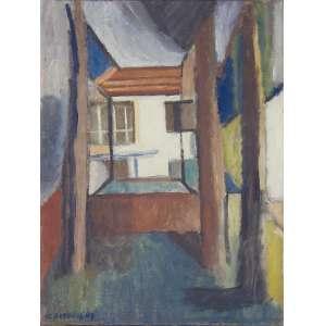 Aldo Bonadei - (1906 - 1973) - Sem título - óleo sobre tela - 65 x 49 cm - assinada canto inferior esquerdo - 1948