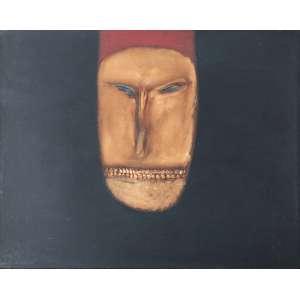 Siron Franco - (1947) - Máscara - óleo sobre aglomerado - 60 x 75 cm - assinada no verso - 1976