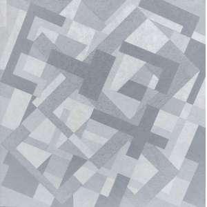 Claudio Tozzi - (1944) - Território - acrílica sobre tela - 140 x 140 cm - assinada no verso - 2011